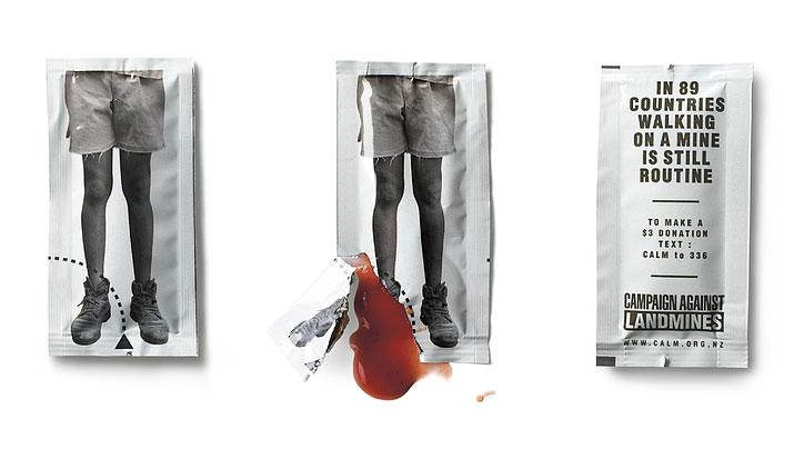 Grafous :: Diseño Gráfico Social, Sostenible y Activista :: CALM :: Campaña anti minas