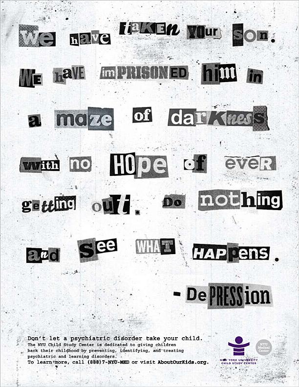 Grafous :: Diseño Gráfico Social :: NYU Child Study Center :: Enfermedades Psíquicas