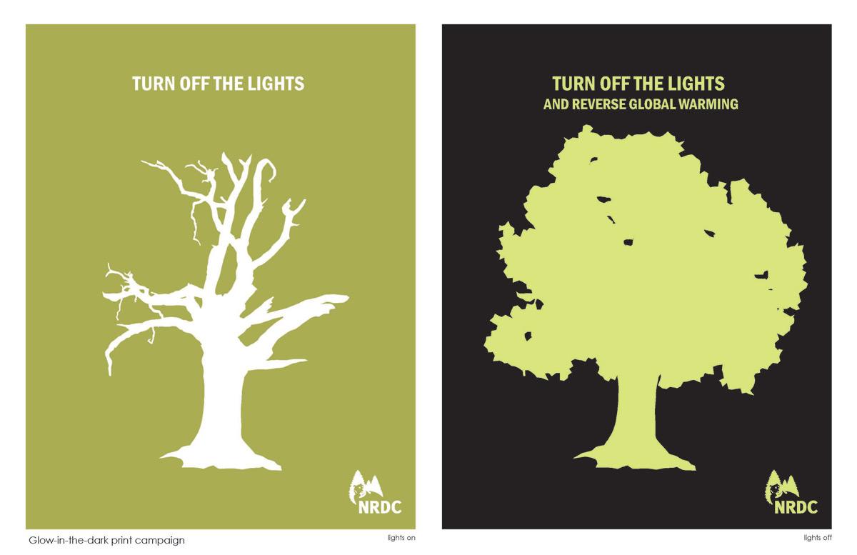 Grafous :: Diseño gráfico sostenible :: NRDC :: Apaga la luz