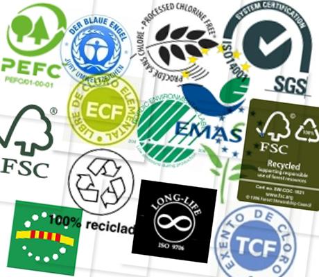 Grafous :: Diseño Gráfico Ecológico :: Sellos ambientales :: Sellos medioambientales :: Certificado industria papelera