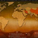 Infografía del mundo en tiempo real