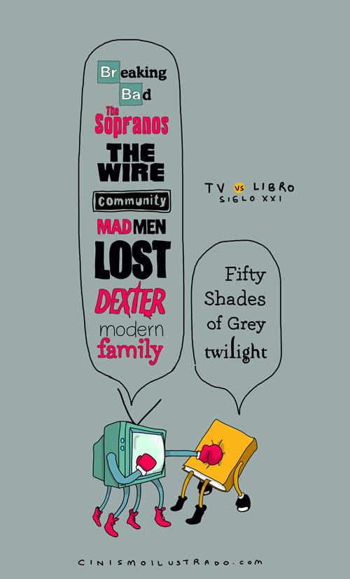 TV vs Libro :: El espíritu de los cínicos :: Grafous, Diseño Gráfico Activista