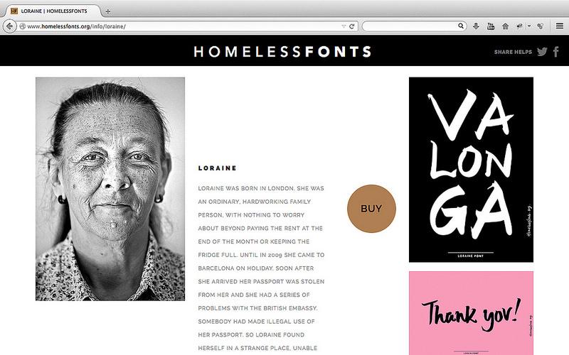 Grafous Diseño Gráfico Social - homeless-font - Fundación Arrels